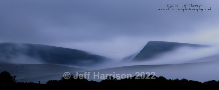 Evening mist over Black Mountain (image Wales 01) - Landscapes & Skies