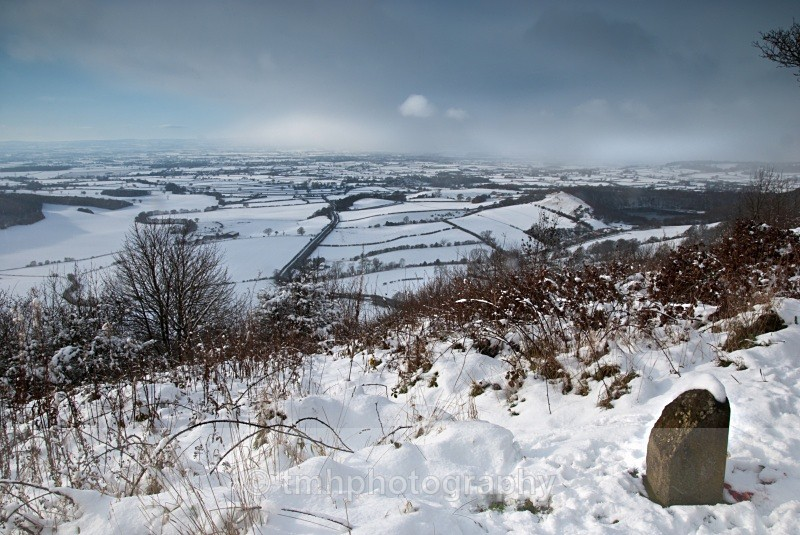 Snow storm above Sutton Bank. - Snow Scene's /Winter