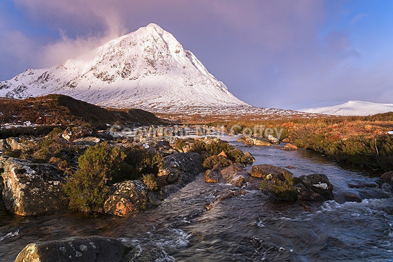 Buachaille Etive Mor & River Coupall, Highland - Landscape format