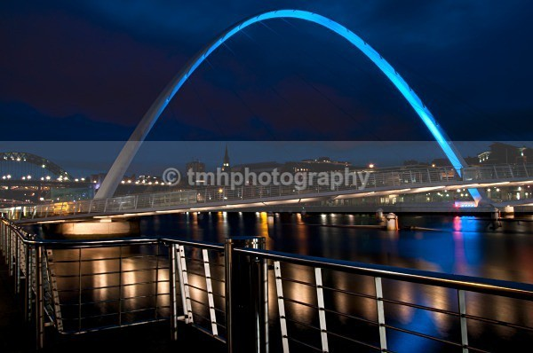 Millennium Bridge Newcastle. - Low Light Photography