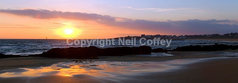 Firth of Forth from Elie, Fife - Panoramic format