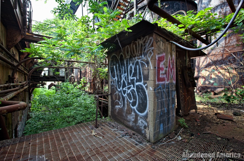Carrie Furnaces (Rankin, PA) | Overgrown Deck - Carrie Furnaces