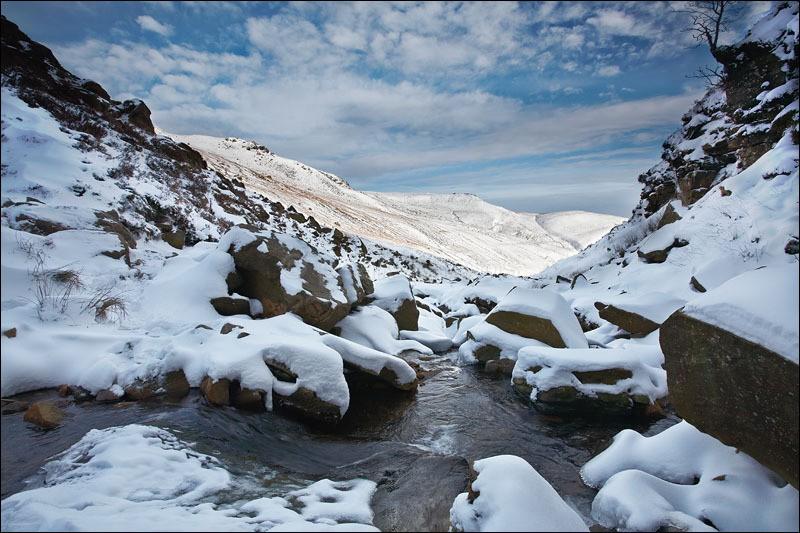 Grindsbrook River - Peak District Winter