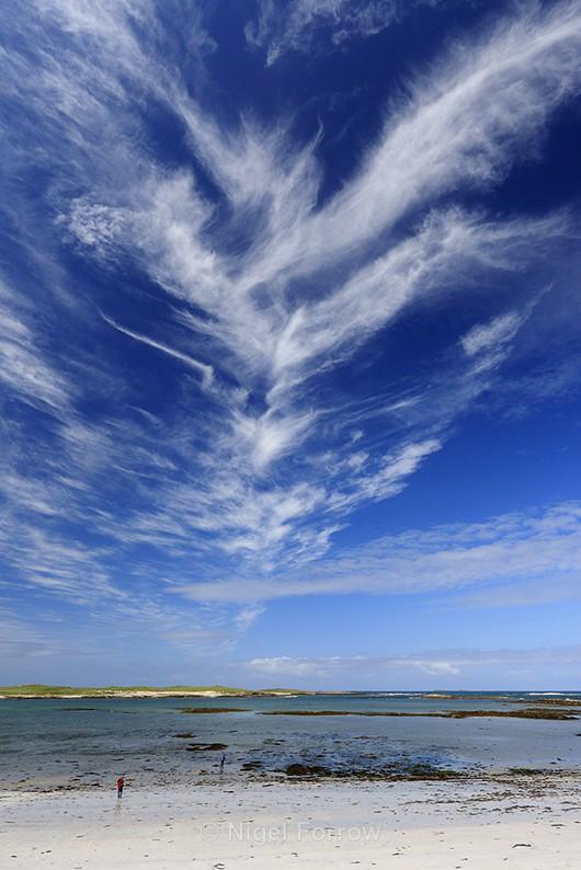 Beautiful cloud formation at Balranald, North Uist - Scotland
