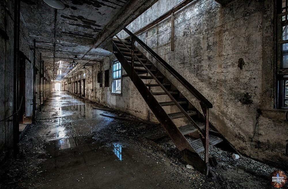 Eastern State Penitentiary (Philadelphia, PA)   Cell Block Stairs - Eastern State Penitentiary
