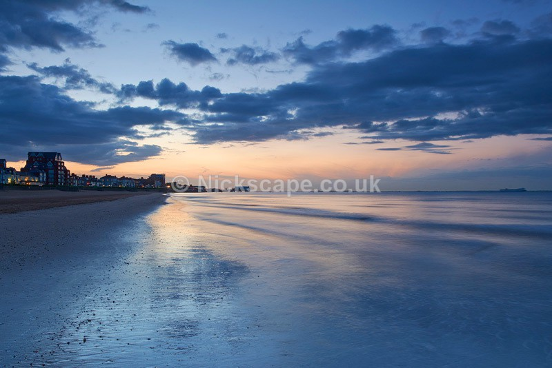 Sunset on the beach at Cleethorpes
