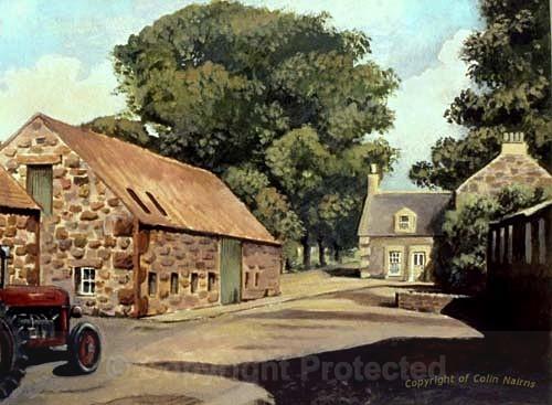 'Farmyard, East Lothian' - Landscapes