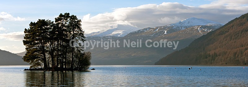 Ben Lawers & Meall Garbh across Loch Tay, Perth & Kinross2 - Panoramic format
