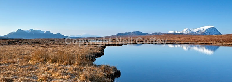 Lochan nam Meur Liath, Highland - Panoramic format