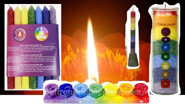 Chakra T-Lights Holders