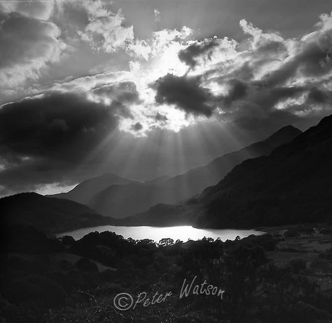 Llyn Gwynant Snowdonia Wales - Monochrome