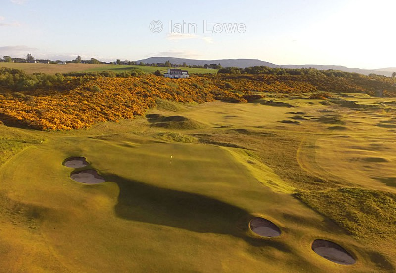Royal Dornoch 4th green - Scottish Links Aerial Images
