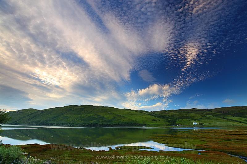 Altocumulus clouds at Loch Harport, Skye.    ref 6292 - West Highlands