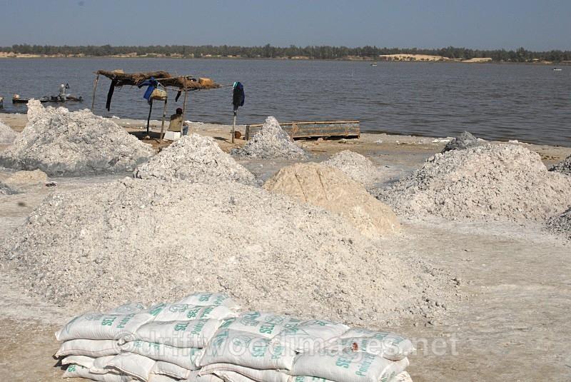 Senegal Lac Rose salt production 3 - Salt Production in Senegal
