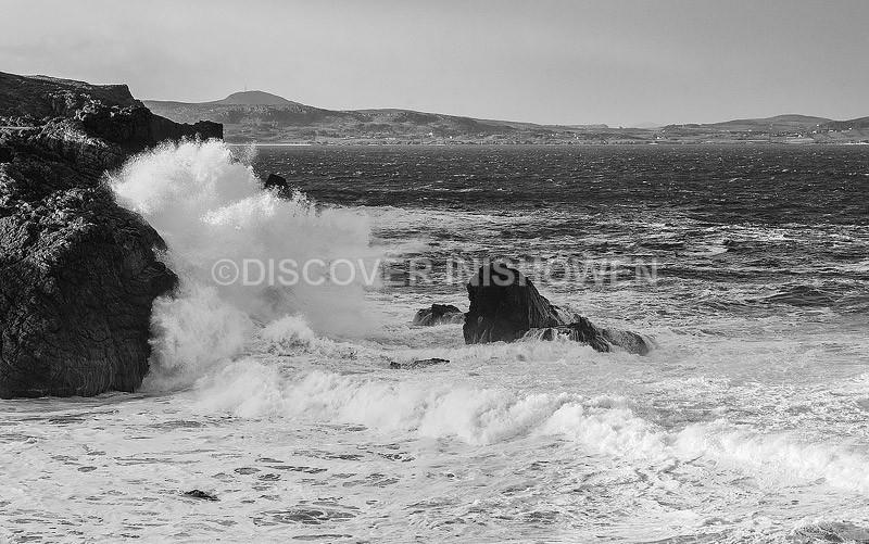 Spalsh-Lenan Head - Inishowen peninsula- B&W