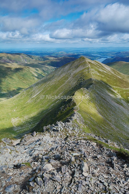 Swirral Edge from Helvellyn Summit - Lake District National Park