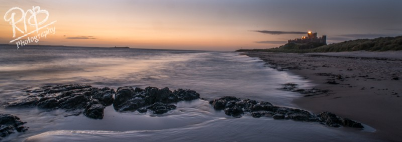 Bamburgh Twighlight - Panoramic Images