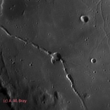 Hyginus crater and rille in IR - Moon: Central Region