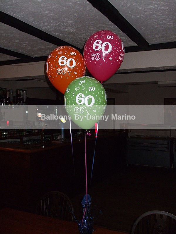 Numbered Birthday Balloons - Birthday Balloons