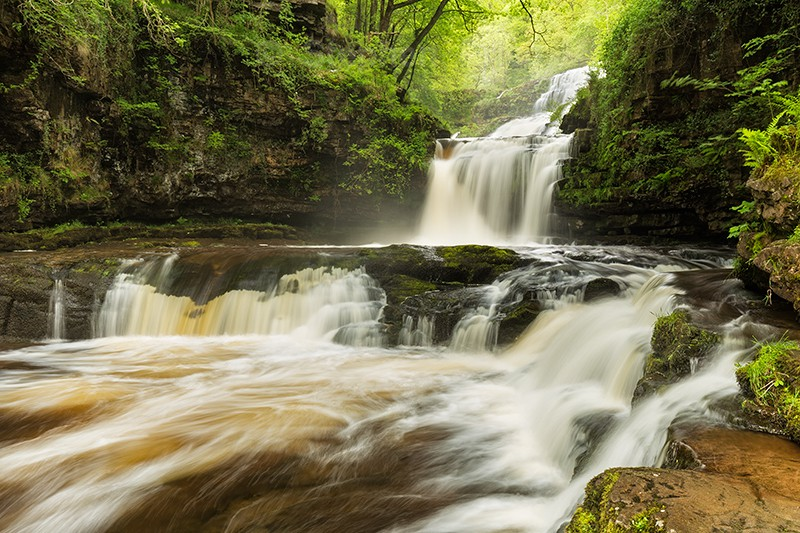 Sgwd Clun Waterfall | Brecon Beacons Waterfall | Wales Photography