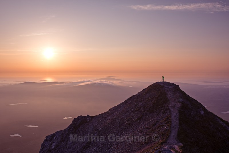 Summer Sunset - A View from Errigal - Ireland by Day