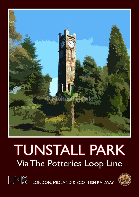 Tunstall Park - Railway Posters