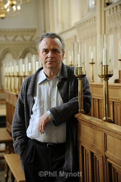 Sir Mark Elder Conductor director of the Hallé Orchestra Portrait photography Cambridge UK Philip Mynott Professional Photographer Cambridge UK  PR