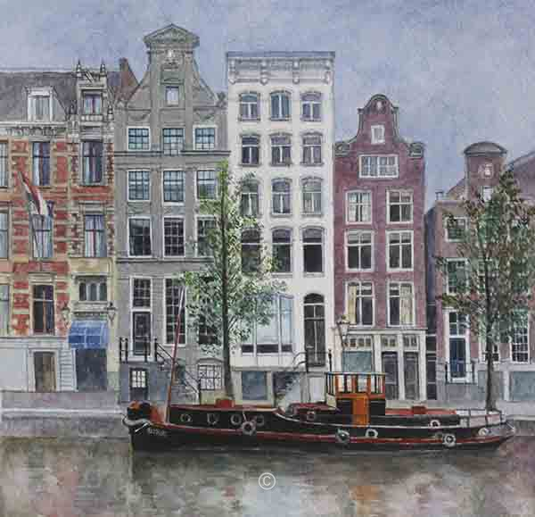Barge on the Herengracht, Amsterdam. - New Works