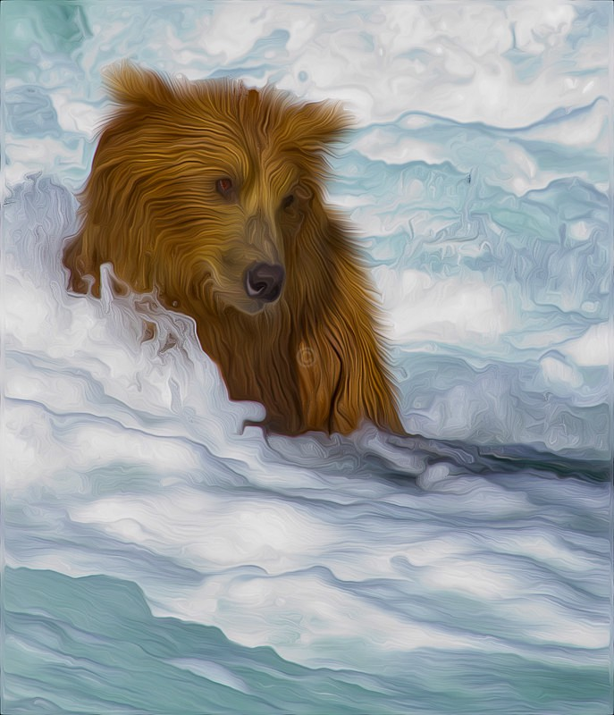 Bear in Water - CrazyCat Imagery