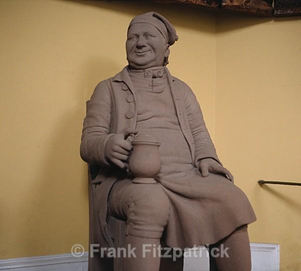 Sandstone statue of Souter Johnnie - Robert Burns