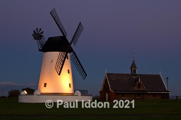 Lytham St Anne's Windmill at Sundown Looking East - Landscapes