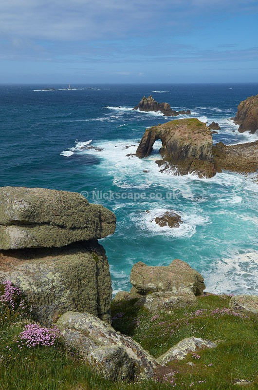 Enys Dodnan Rock - Lands End, Cornwall, UK - Cornwall