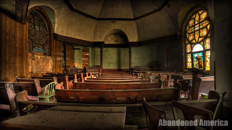 Advent Hill Baptist Church - fine art photographs by Matthew Christopher Murray of Abandoned America