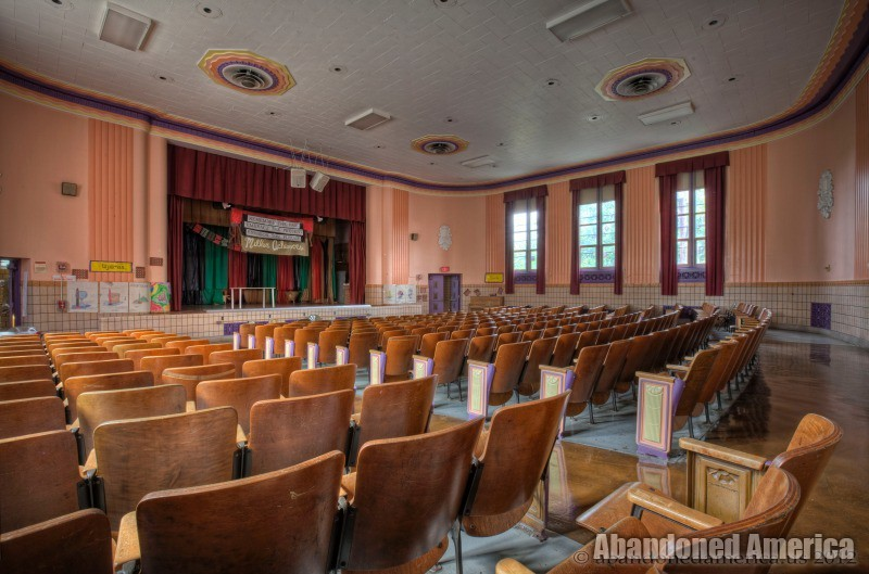Abandoned School auditorium - Matthew Christopher's Abandoned America
