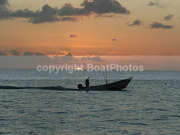 070131 Tobago Fisherman in Sunset - ATLANTIC CROSSING 2006