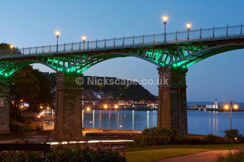 Royal Spa Bridge at Night - Scarborough Bay - Yorkshire - Latest Photos