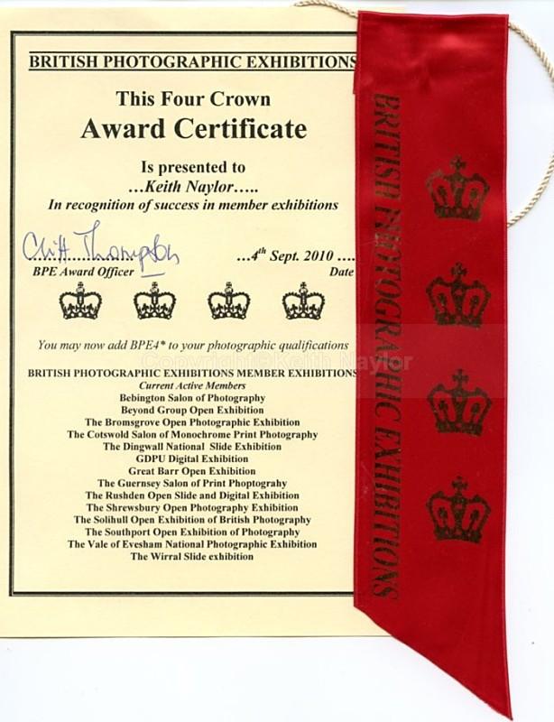 BPE4 Crown Award - Awards