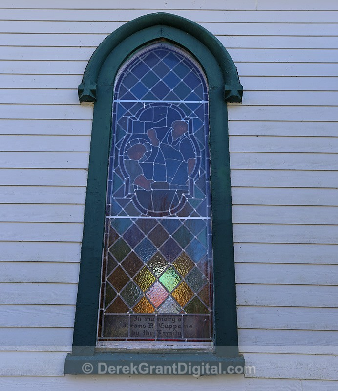 Stained Glass, St. Bridget's Church ~ New Brunswick, Canada - Churches of New Brunswick
