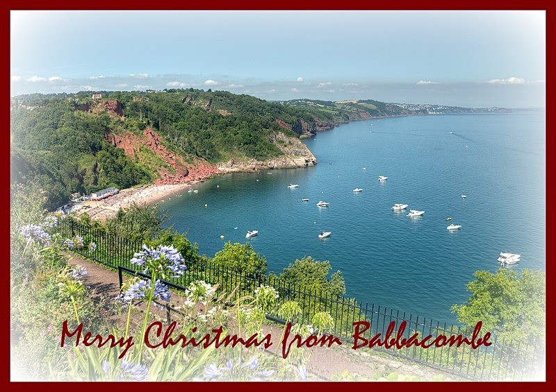 TQ126 - xmas card - Babbacombe Downs and Oddicombe - Greetings Cards Torquay (separate galleries for Meadfoot Beach/Ansteys and Cockington)