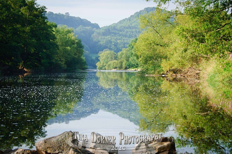 River Wye still and calm water.by Tina Dorner Photography, Forest of Dean and Wye Valley, Gloucestershire