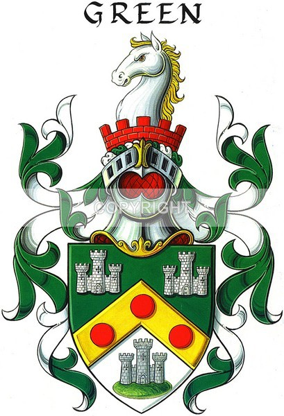 Green - CC-116 - Heritage Family Name and Coat of Arms Store