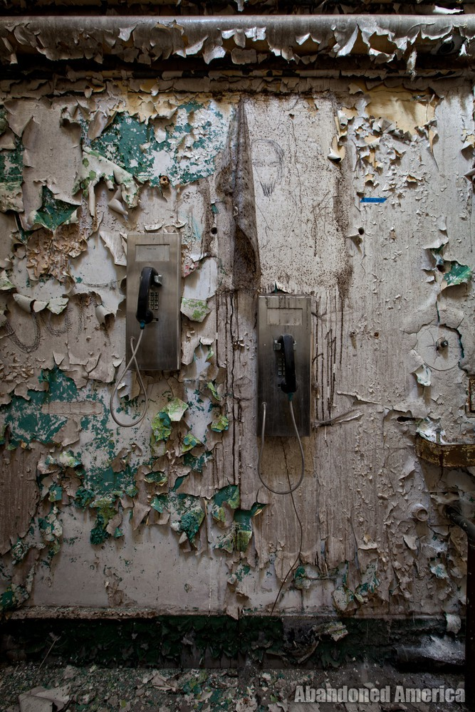 Pay phones, Holmesburg Prison, Philadelphia PA | Abandoned America by Matthew Christopher