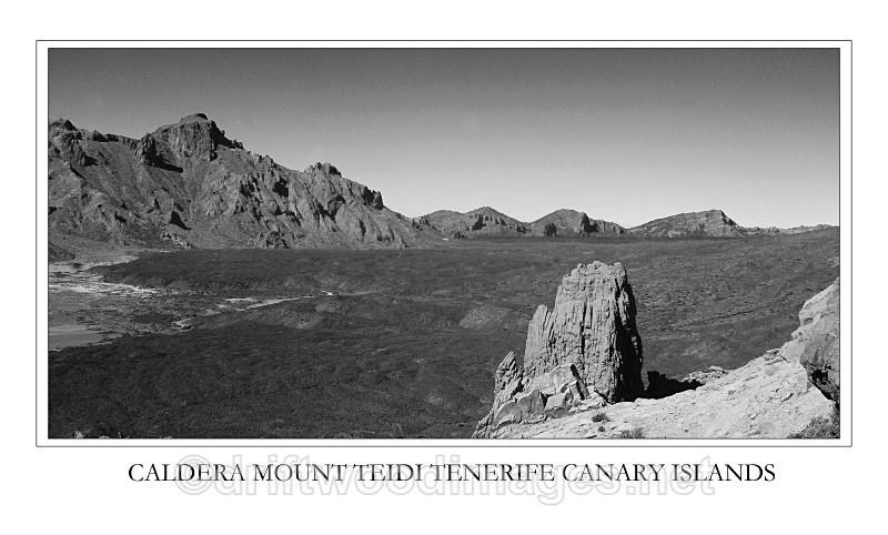 Tenerife caldera general bw - Tenerife Mount Teidi