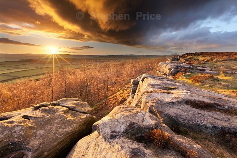 Sunset over Birchen Edge | Peak District | Evening Photography