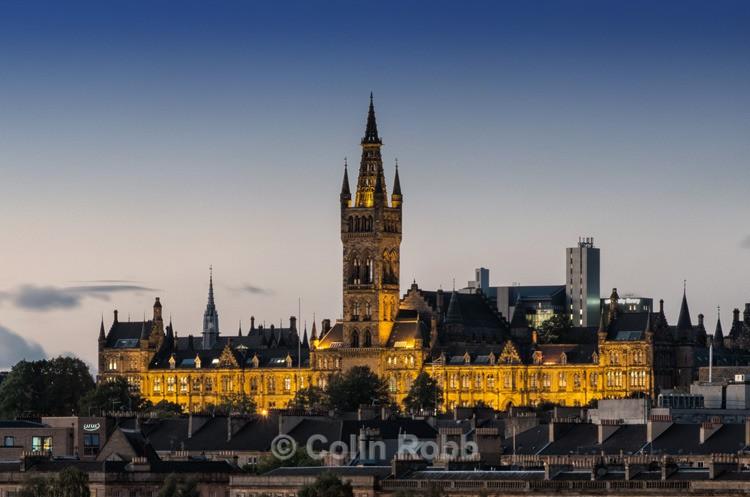 Glasgow University I Twilight photograph by Colin Robb