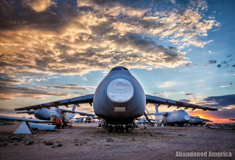 C5 Galaxy - Aerospace Reclamation and Maintenance Group, Tucson AZ - Matthew Christopher Murray's Abandoned America