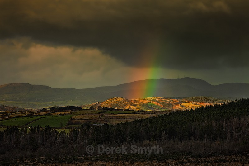 Mourne Mountains Rainbow - The Mournes