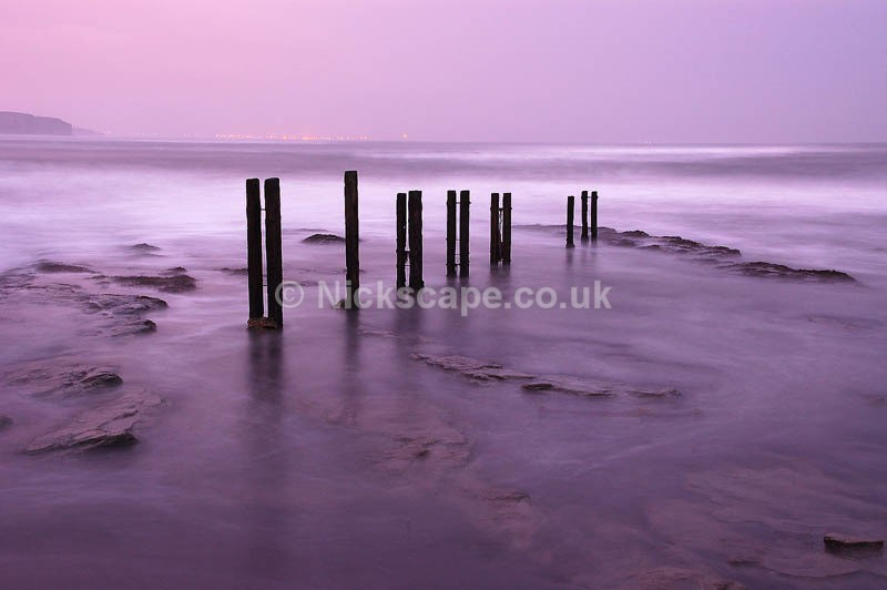 Whitley Bay Seascape Photograph | Pre dawn glow at St Marys Lighthouse