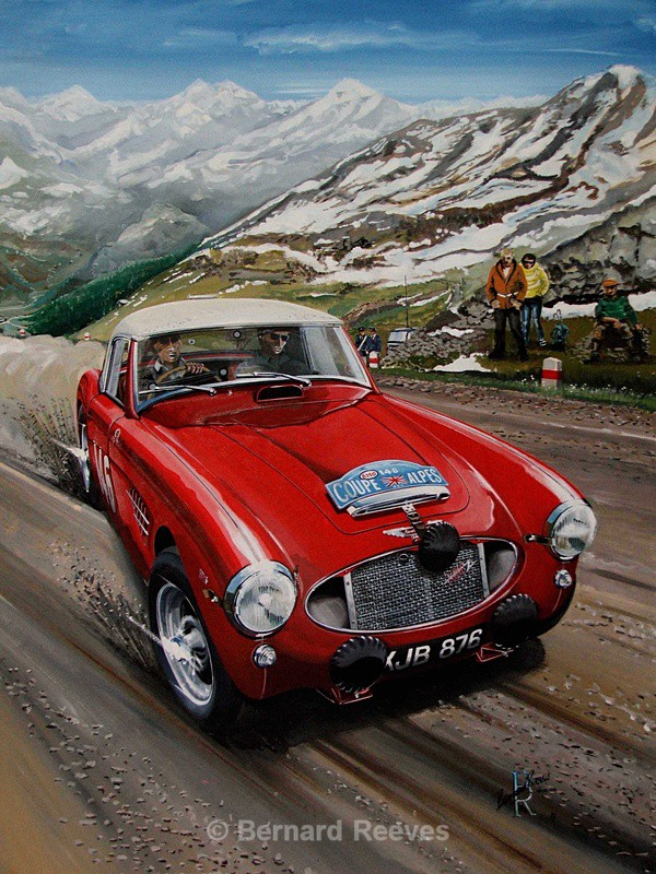 Austin Healey Coupe - Rally cars & drivers