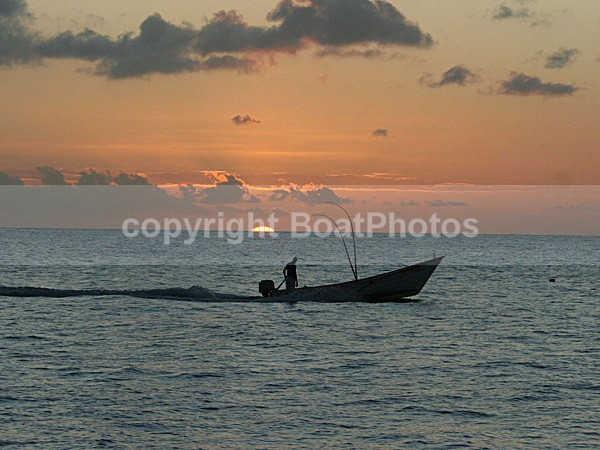070131 Tobago Fisherman in Sunset - ATLANTIC CROSSING 2006